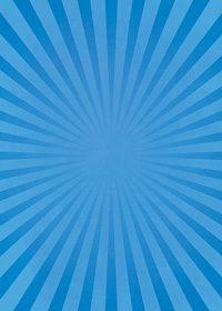 青色の集中線のA4サイズ背景素材