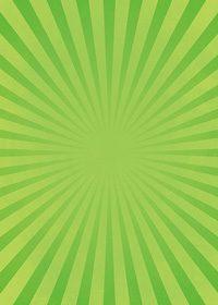 緑色の集中線のA4サイズ背景素材