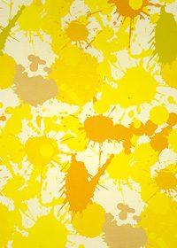 黄色のインクが飛び散るA4サイズ背景素材