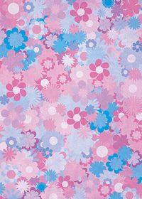 紫基調の花のイラストのA4サイズ背景素材